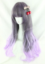 Japanese Dark Brown Purple Lolita Wig