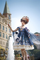 Nine Ode ~Nation of Dawn & Dusk Elegant High Waist Lolita JSK -Ready Made