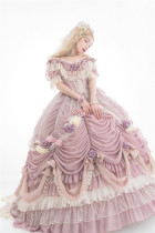 Henrietta ~Rose Queen Flowers Luxury Lolita OP -Pre-order