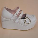 Mint Heart Platform Lolita Shoes