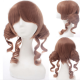 Sweet Brown Short Curls Lolita Wig with Two Ponytails