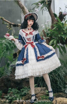 Moira~ Lolita Short Sleeves OP Dress -Ready Made