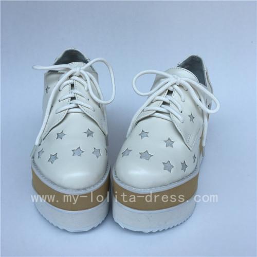 Beautiful Stars Double Colors Soles Lolita High Platform Shoes