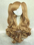 Sweet Blonde Lolita long Curls Wig with Removable Ponytails