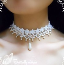 Sweet Lace Beads Lolita Choker
