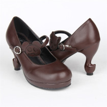 Angelic Imprint- Popular Brown Lolita Princess Heels Shoes -Changeable Color