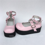 Black High Platfrom Pink Lolita Shoes