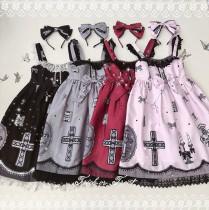 Cross~ Sweet Girl Lolita Jumper -Ready Made