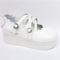 Sweet White Matte Lolita Shoes
