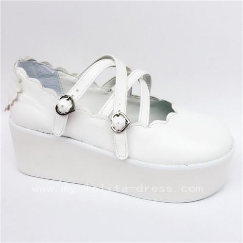Sweet White Matte Lolita Shoes