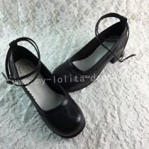 Gothic Matte Black Lolita Heels Shoes