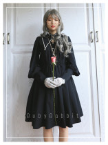 Cordelia~ Vintage Lolita OP With Detachable Collar -Pre-order