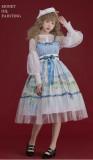 Monet Oil Painting~Dairywear Version Lolita JSK/Overskirt -Ready Made