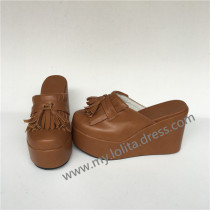 Sweet Light Coffee Lolita Sandals