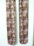 Classic Lolita Brown Tights with Cute White Cats Prints -Clerance