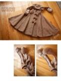 Brown Bunny&Ponny Wool Lolita Cape