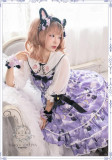Black Cat Nebula~ Gothic Lolita JSK for Adults Purple Size XL - In Stock