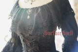 Surface Spell ***White Crystal & Black Agate*** Chiffon Medium Sleeves Lolita Blouse