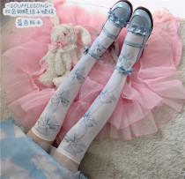 Neverland Lolita ~Sweet Bows Printed Lolita Socks