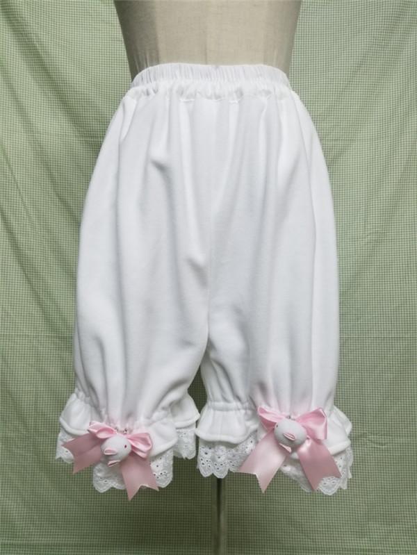 Polar Fleece Winter Lolita Bloomer With Pocket