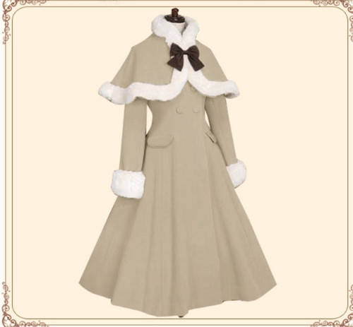Lolita Princess Winter Double-breasted Coat&Cape
