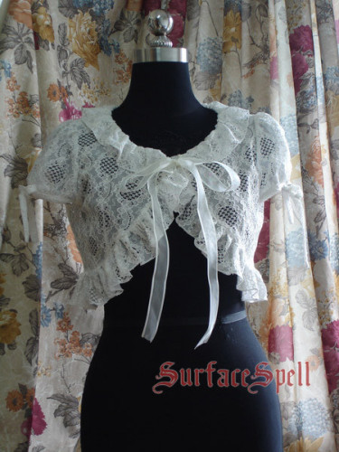 White Strawberry Lace Lolita Bolero