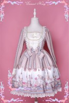 Vintage Punk Style Dolls Printed Lolita OP and JSK