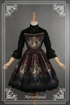 Neverland Lolita ~Ode to Rococo~ Lolita OP Dress Black M in stock