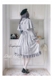 Dear Celine ~Aria On the G string~ Gingham British Style Fake Two-pieces Lolita OP - Ready Made