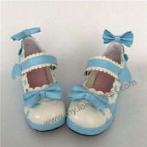 Sweet Single Strap Lolita Shoes with Bows