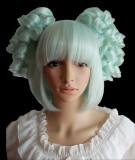 Short Mint Curly Wavy Ponytail Lolita Wig