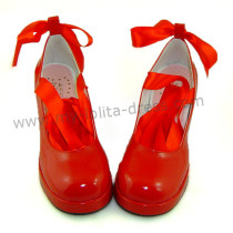 Square Heel Sash Belt Lolita Shoes
