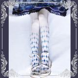 Alice~ Lolita Printed Tights -Ready Made