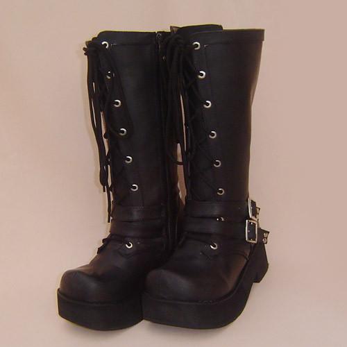 Black Belts Punk Lolita Boots
