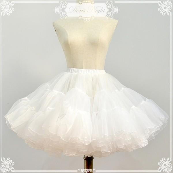 Organze Tailored A-line Shaped Lolita Petticoat