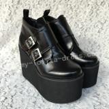 Sweet Gothic Matte Black Lolita High Platform