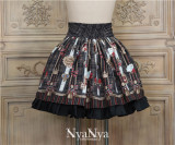 Royal Card~ British Style Printed Lolita Skirt -Ready Made