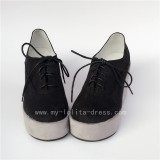 Black Velvet Lolita High Platform Lolita Shoes
