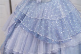 Fantastic Wind ~Deep-sea Maiden~ Kirakira Chiffon Stars Lolita OP -Ready Made