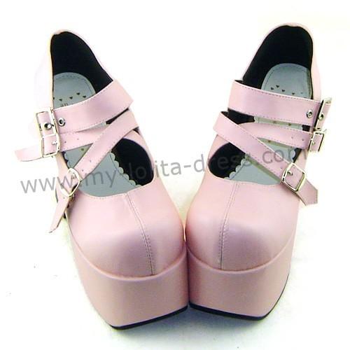 High Platform Pink Lolita Shoes