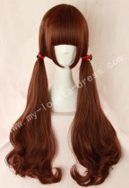 Red Brown Long Curls Lolita Wig