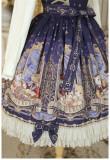Honey Honey Lolita***Cats' Astrology*** Lolita Normal Waist JSK - Ready Made  Sax Normal Waist JSK Size XL in Stock