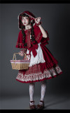 YUPBRO Lolita ~Little Red Riding Hood Soft Lolita JSK Fullset -Ready Made