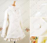 Lolita Princess Warm Winter Lady High Collar Short Coat
