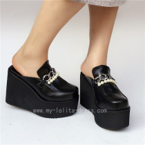 Sweet Matte Black Lolita High Platform