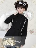 Lolita Princess Double Breasted Bow Short Winter Coat