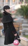 Black Classic Cape Lolita Long Jacket