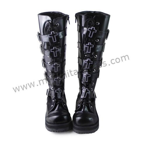 Gothic Punk Cross Decorated Lolita Boots