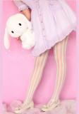 Ao1~ Summer Vertical Striped Velvet Lolita Tights