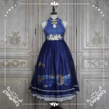 NyaNya Lolita Boutique ~Over the Sea the Moon Shines Bright Cheongsam Qi Lolita OP -Ready Made